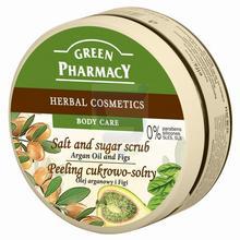 Green Pharmacy Peeling cukrowo-solny Olej arganowy i Figi 300 ml