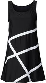 Bonprix Sukienka plażowa z materiału kąpielowego czarny