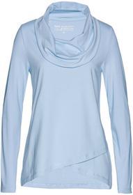 Bonprix Shirt z bawełny organicznej pudrowy niebieski