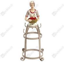 Stojak na kubki Sorrento, beżowy, z figurką