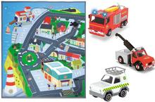 Dickie Toys Strażak Sam Mata Pontypandy + Jupiter, Phoenix i Vet 4006333025853