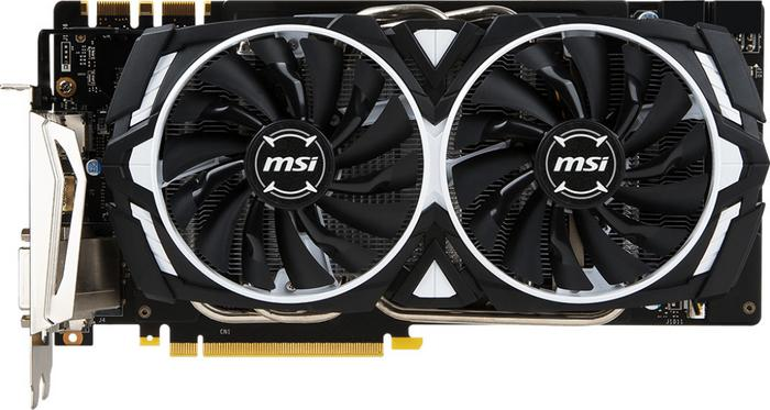 MSI GeForce GTX 1070 Ti Armor 8G VR Ready