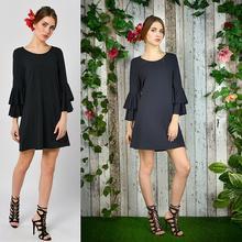 Malwa Czarna - czarna sukienka