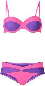 e15419705e10a1 Bonprix Bikini na fiszbinach (2 części) różowy neonowy - jeżynowy