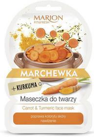Marion Fit & Fresh Carrot & Turmeric Face Mask 9 g Maseczka Marchewka + Kurkuma DARMOWA DOSTAWA DO KIOSKU RUCHU OD 24,99ZŁ