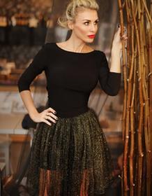 Pin-UPS Sukienka wieczorowa z odpiananą spódnicą