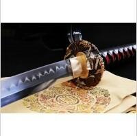 Kuźnia mieczy samurajskich MIECZ SAMURAJSKI KATANA DO TRENINGU, STAL WYSOKOWĘGLOWA 1095 WARSTWOWANA, HARTOWANA GLINKĄ Z KOZUKA, R811