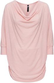 """Bonprix Shirt z dekoltem """"wodą"""" stary róż - kolorowy"""