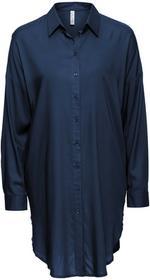 Bonprix Długa bluzka ciemnoniebieski