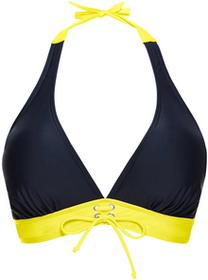Bonprix Biustonosz bikini z ramiączkami wiązanymi na szyi ciemnoniebieski