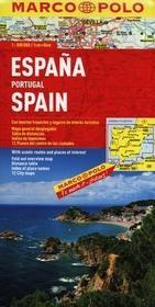 Mairdumont  Hiszpania Portugalia. Mapa drogowa 1:800 000 Marco Polo