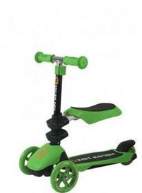 Kidz Motion hulajnoga trójkołowa 3w1 zielona z siedzonkiem 5905279567191