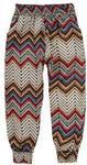 Spodnie dziewczęce klasyczne. ze ściągaczami we wzorycienkie