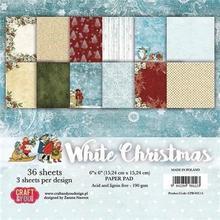 Papier ozdobny 15x15 cm White Christmas - zestaw