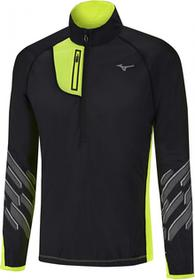 Mizuno męska kurtka sportowa Static BT Windtop/Black Safety Yellow M