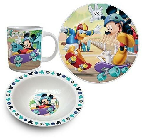 Disney Mickey Mouse 3-częściowa Porcelana naczynia MMO102547