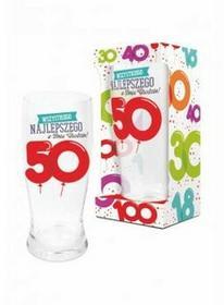 BGtech BALONIKI szklanka do piwa 500ml 50 urodziny 11901620/OP-059-021/PL-3363