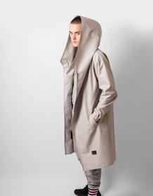 REST FACTORY Płaszcz Hoodie Grey Oversize Men