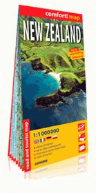 ExpressMap praca zbiorowa New Zealand. Laminowana mapa samochodowo-turystyczna 1:1 000 000