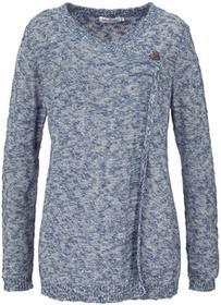 Bonprix Sweter rozpinany, długi rękaw indygo