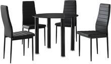 Lectus Zestaw stołowy Sabo czarny stół + 4 krzesła