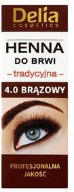 DELIA Cosmetics Henna do brwi tradycyjna brązowa 4.0