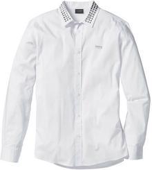 Bonprix Koszula z długim rękawem Slim Fit biały