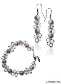 Kolczyki + bransoleta kryształy/perły Swarovski