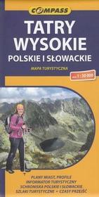 Compass Tatry Wysokie polskie i słowackie mapa 1:30 000 Compass