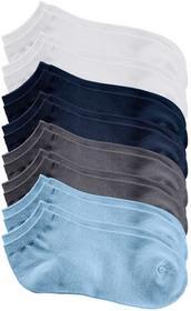 Bonprix Krótkie skarpetki (8 par) biały + ciemnoniebieski + szary melanż + niebieski lodowy