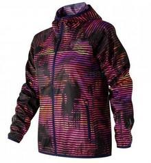 New Balance Kurtka do biegania damska Windcheater różowo-czarny print) 12h