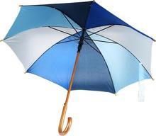 KEMER Drewniany parasol automatyczny NANCY - multikolor 513164