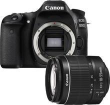 Canon EOS 80D + 18-55 DC III czarny