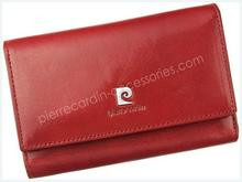 Pierre Cardin Portfel damski skórzany 507.10 356 Czerwony 507.10 356 czerwony-0
