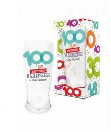 BGtech BALONIKI szklanka do piwa 500ml 100 lat 11901620/OP-059-021/PL-3365