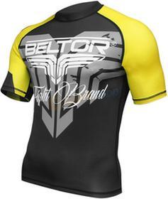 Beltor Rashguard z krótkim rękawem Cage Raze czarno-żółty)