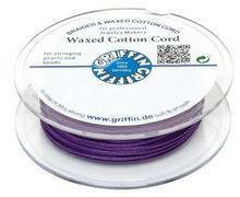 Griffin Griffin WAXED COTTON CORD Bawełniany sznurek woskowany 1mm 20m - Amethyst