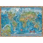 B2B Partner Dziecięcy świat - Ilustrowana mapa świata 13 000m