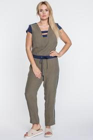 e7319a516e6 ECOWISH ecowish kombinezon Jumpsuit damski strój Elegant wycięcie w ...