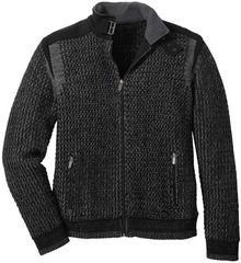 Bonprix Sweter rozpinany Regular Fit czarno-dymny szary