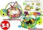 Lean Toys Mata edukacyjna Żółw 3w1 + piłki