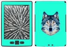 """Disagu SF-SDI-3189_ 778Skin do Amazon Kindle designerskamotyw """"Wilk geometrycznie Cyan"""" Przezroczyste"""