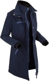Bonprix Długa kurtka softshell, w optyce 2 w 1 ciemnoniebieski