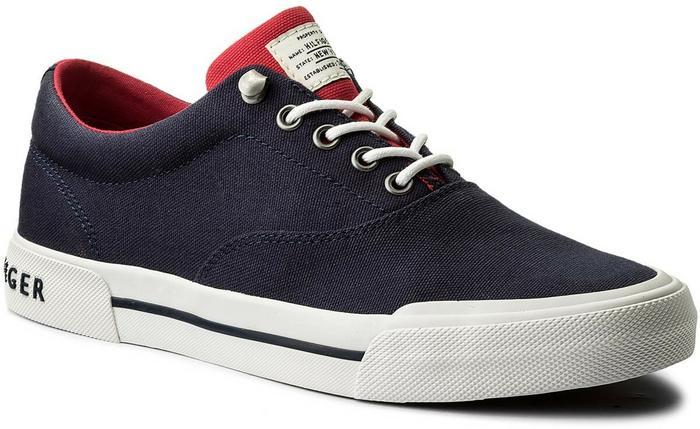 58110dc21f9f5 Tommy Hilfiger Tenisówki Heritage Textile Sneaker FM0FM01353 Tommy Navy 406