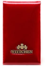 Wittchen Etui na wizytówki WITTCHEN 25-2-240 czerwone 25-2-240-3