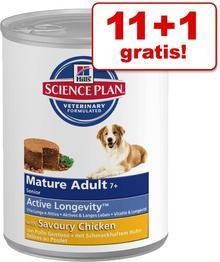 Hill's Science Plan Korzystny zestaw Hill's Canine, 12 x 370 g - Mature Adult 7+, Kurczak
