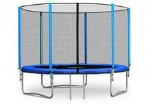Trampolina ogrodowa z siatką zewnętrzną i drabinką 252 cm NEOSPORT