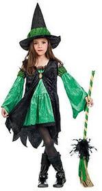 Limit Sport Małe Wiedźma z bajki kostium dziecięcy Zielony sukienka z kapelusz czarownicy -  zielony B0160VZM4Q