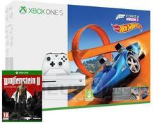 Microsoft Xbox One S 500GB Biały +  Forza Horizon 3 + Hot Wheels + Wolfenstein II The New Colossus + XBL 6 m