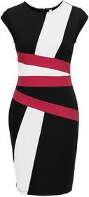 Bonprix Sukienka biało-czarno-jagodowy